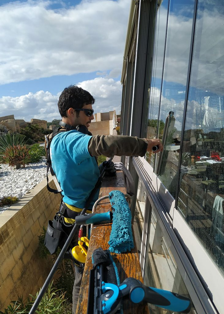 Professional window cleaning malta Spic and Span Etienne Turner