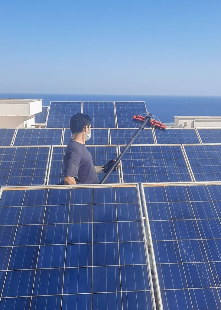 Solar panel cleaning Malta Spic and Span